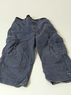 Boys Next Blue Elasticated Waist Cargo Chino Trousers Jeans Age 2-3 Years