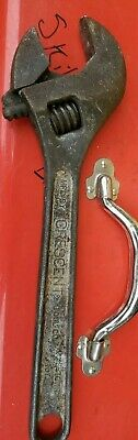 """Vintage Crescent Tool Co 15"""" Drop Forged Steel Heavy Duty Adjustable Wrench, USA"""