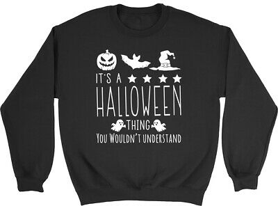 Life would be Boring without Halloween Kids Childrens Jumper Sweatshirt Boy Girl