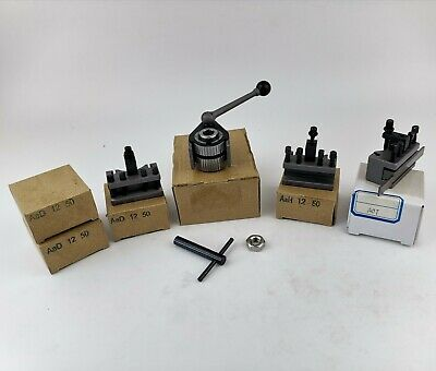 AA Plus Multifix Quick Change Tool Post Kit & A0T Part off holder 4 Bench Lathe