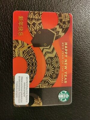 YEAR OF THE Snake, Chinese New Years, Starbucks Gift Card ...