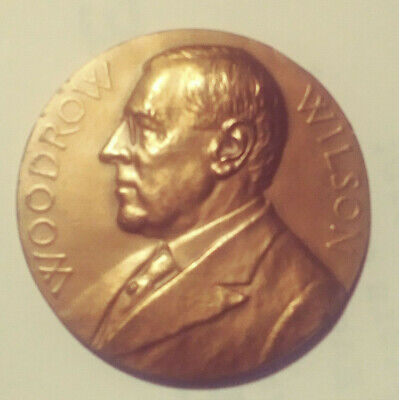 US Mint Woodrow Wilson Presidential High Relief Bronze Inaugural Medal