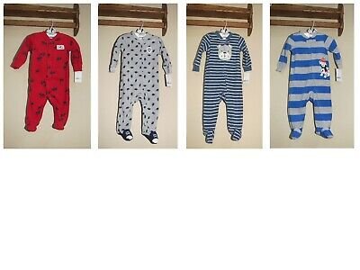 NEW Carter/'s Baby Boys 2 Piece Lot Footed Fleece Blanket Sleepers 3 Months NWT
