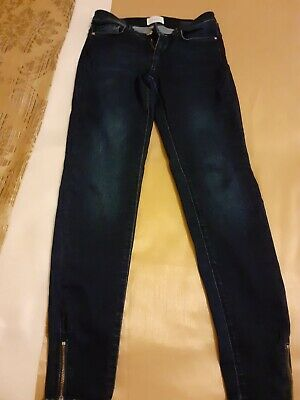 Womens Dunnes Skinny Fit Jeans Style Twill Trousers Navy Size 10 to 16 Ladies D3