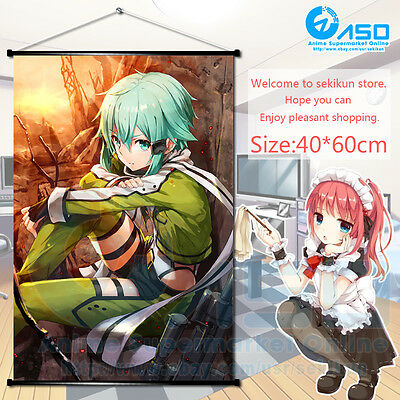 Anime Sword Art Online ART Wall Scroll Poster Home Decor Collectible 60X90cm #1