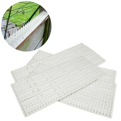 10x SECURITY SPIKE STRIPS White Plastic Sharp Fence Bird Cat Intruder Deterrent