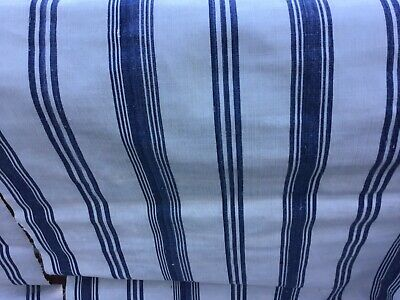 MID-1800s French denim blue/ivory ticking/Stripes/Project Bundle/Clean&Beautiful