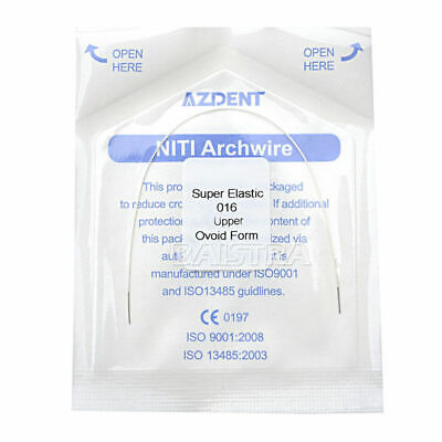 Dental Orthodontic Arch Wire Super Elastic NITI Round 016-020 Upper Lower AZDENT
