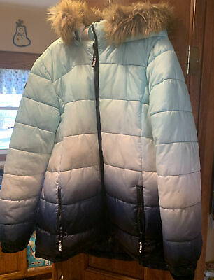 JUSTICE GREEN CAMO PUFFER OR BLACK LEOPARD BOMBER JACKET GIRLS SZ 22 24 PLUS