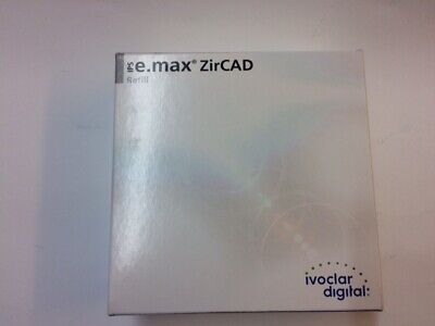 IVOCLAR IPS E.MAX  ZIRCAD REFILL DISK LT & MO 98.5-14/16/20mm BOXED AND SEALED