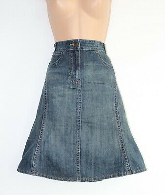 Girls Kids Vintage REVIEW A-Line Midi Blue Denim Jean Skirt Size 14 Years 170