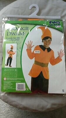 Orange Dwarf Outfit Fits Ages 4 To 6