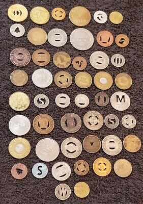 Transit Tokens Lot of 50 Different Transit Tokens