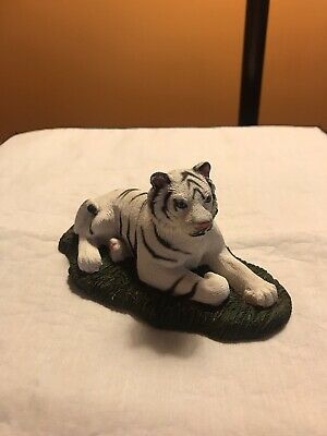 """Tiger Figurine Living Stone 3/"""" Resin Statue New Collectible"""