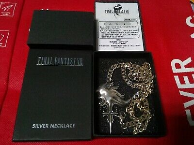 Square Final Fantasy VIII SQUALL SLEEPING LION HEART Silver Necklace 925 from JP