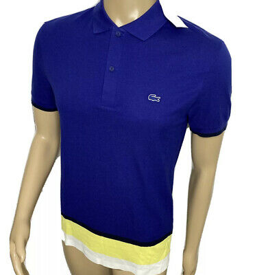 4XL NWT Short Sleeves Ocean Blue Lacoste Classic Fit Pique Polo Shirt Size 9