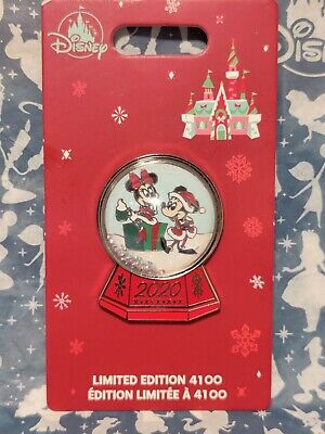 Mickey Minnie Mouse Holiday 2020 Pin snow globe Limited Edition LE 4100 sold out