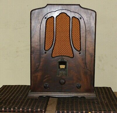 "vintage RCA R-7A TOMBSTONE SUPERETTE RADIO BRASS ART DECO FACEPLATE 3 /& 7//8/"" hi"