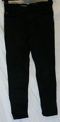 Boys Next Plain Black Denim Adjustable Waist Skinny Fit Jeans Age 10 Years