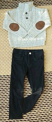 H&M , Atmosphere Boys Age 2-3 Slim Jeans And Knitted Jumper With Elbow Pads...