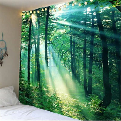 Frondent Forest Tapestry Room Wall Hanging Art Print Wall Home Decor L0D3