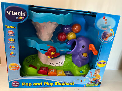 Vtech Baby Pop and Play Elephant Set Count /& Learn Fun New Toddler Xmas Toy 9m+