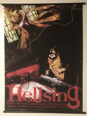 """Hellsing Anime Fabric Wall Scroll Poster 16/"""" x 24/"""" Inches 0547"""