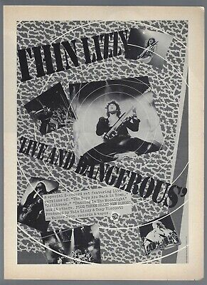 Thin Lizzy Live In Concert SMU Moody Coliseum 0835 Vintage Music Poster Art