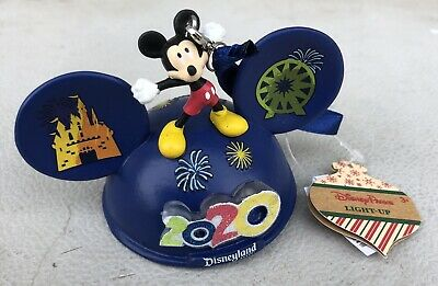New Disney Parks Baby/'s First Christmas Dumbo Mickey Ear Hat Ornament