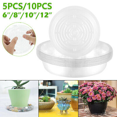 18cm Bargainstore Orchid Pot Saucer Plant Water Tray Base Round Plastic Clear Stewart 11cm