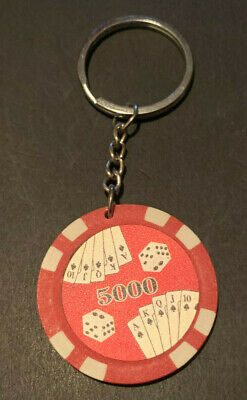 NO LIMIT TEXAS HOLD /'EM KEYCHAIN POKER CHIP THEME METAL! CARD COVER