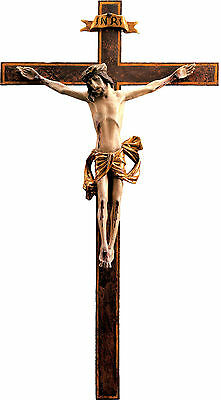Old Cross, Old Carved cross Crucifix 3 4/12ft, Wood, Wood