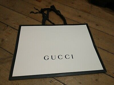 Gucci Big White & Black Paper Carrier Gift Bag Shopping Bag L48/D36/W8cm