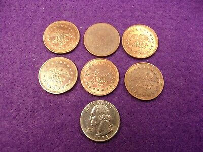 """HOLIDAY SALE Lot of 50 No Cash Value Tokens Copper Tone Size .900/"""""""