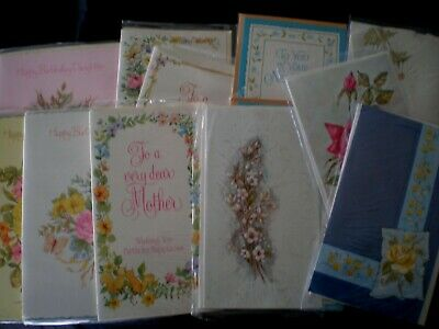12 MIXED JOB LOT OF1970's VINTAGE CARDS-UNUSED -ASSORTED-BIRTHDAY/BLANK/NEW HOME