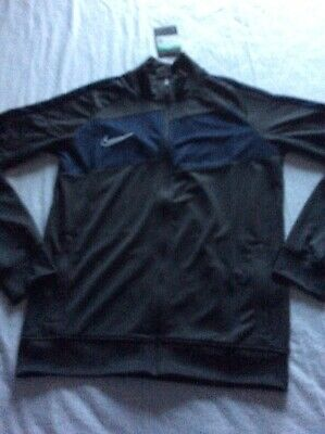 Boys Nike Dri-Fit Zipper Track Top Jacket Grey Blue Size X Large 13-15 Yrs  Gift