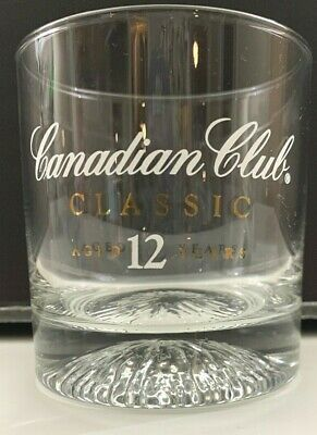 Canadian Club Classic 12 year Whisky Weighted Bottom Rocks Glass