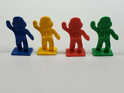 64 Cards /& 4 Gingerbread Men Movers 2004 Candy Land Game Replacement Pieces