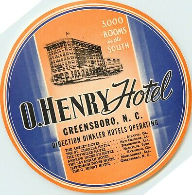 1940 MINT CONDITION The Oriental Hotel ~KOBE JAPAN~ Great Old Luggage Label