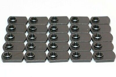 8020 Equivalent Black Steel Flat T-Nut Pack/25 #4328