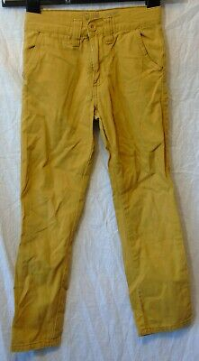 Boys Primark Mustard Yellow Chino Denim Slim Fit Straight Jeans Age 5-6 Years