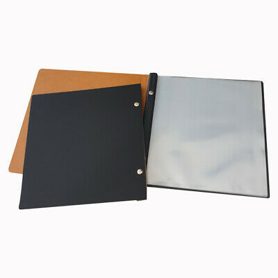 Luxury Square Leather Front menu cover 10 pkts free freight