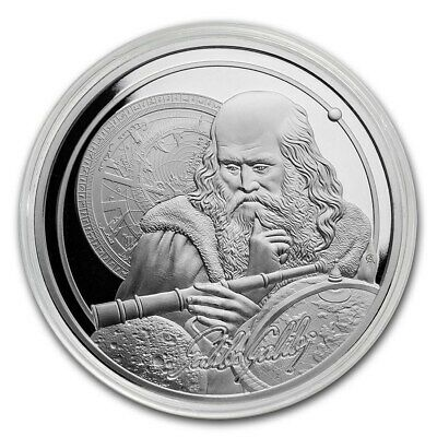 2021 Niue Icons Of Inspiration Series Galileo Galilei 1 oz Silver Capsuled Coin