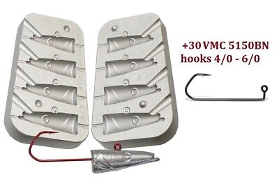 Cod Bomb 4 Jig Head Takes VMC 5150 sizes 3//0-4//0 16//18//20//25g 5mm Adhesive eyes