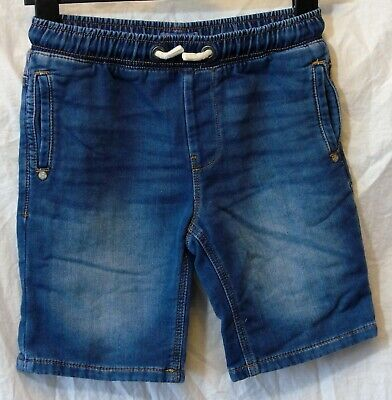 Boys Next Blue Whiskered Denim Drawstring Waist Long Board Shorts Age 10 Years