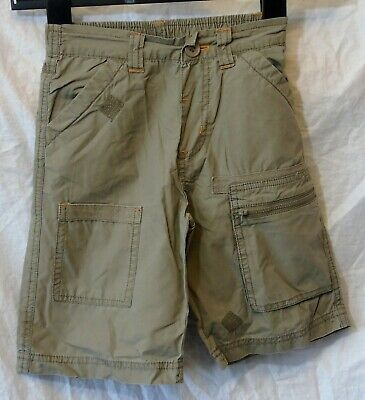 Boys Primark Khaki Brown Cotton Summer Cargo Board Shorts Age 3-4 Years
