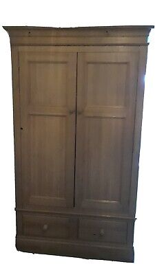 Large Pine Double wardrobe With 2 Draws