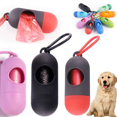 Poop Bag Dispenser Pet Dog Waste Garbage Case+Poop Pick Up Bags Holder