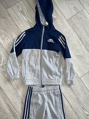 Girls Boys Unisex Black Adidas Tracksuit Age 7-8 Years Sports Loungewear Set