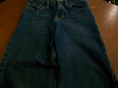 Cherokee Boys Adjustable Waist  size 7  Blue Jeans Snap & Zip